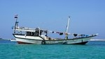Sambuka - arabian boat Dhow used in the archipelago of Socotra