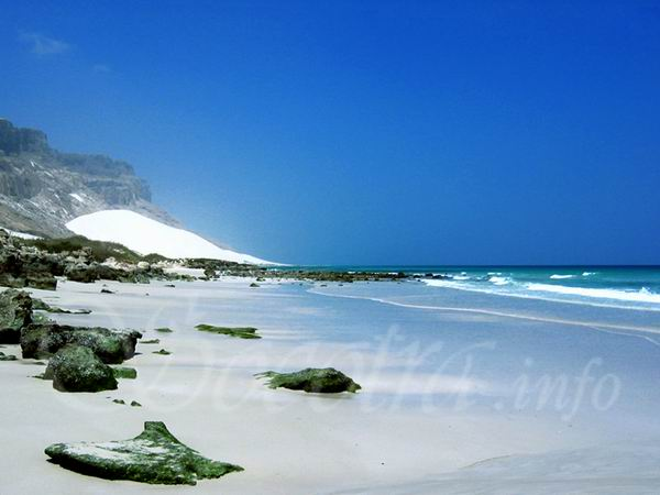 Socotra Picture of the Day: The beach on the north-east of Socotra
