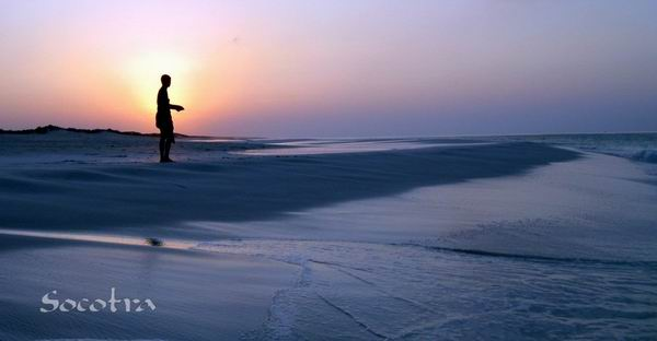 Socotra Picture of the Day: Fishing at sunset