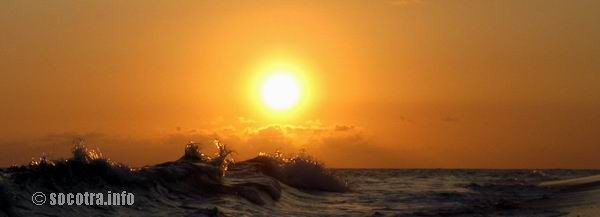 Socotra Picture of the Day: waves at sunset