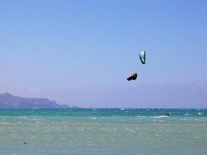 Kite-surfing in Socotra