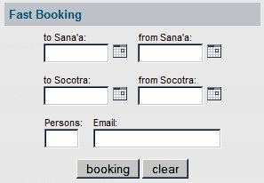 Socotra booking system
