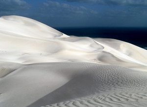 Dunes on the east part of Socotra island