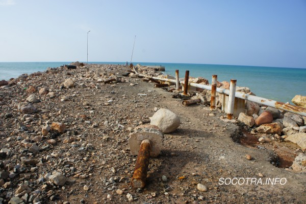 Seaport on Socotra after storm