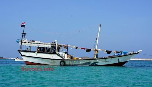Sambuka - fishing boat on Socotra island