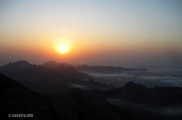 Socotra Picture of the Day: Sunset on the top of Socotra