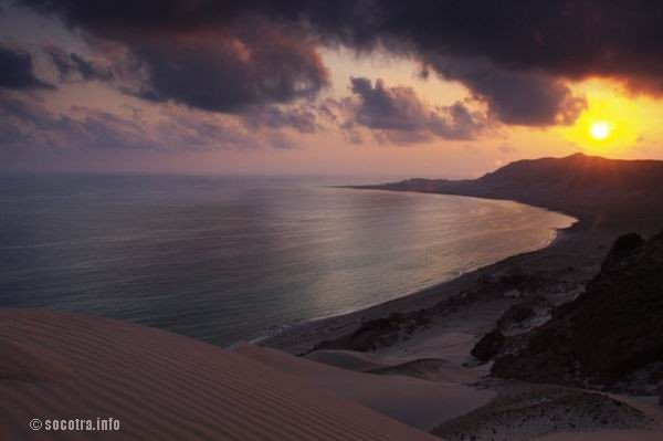 Socotra Picture of the Day: View from the dunes at Archer