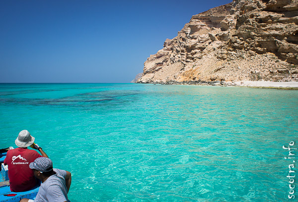 Socotra Picture of the Day: By boat to Shuab bay