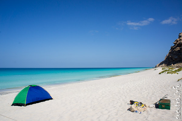 Socotra Picture of the Day: Camping at Shuab bay