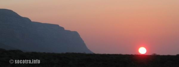 Socotra Picture of the Day: Sunset at DiSebro
