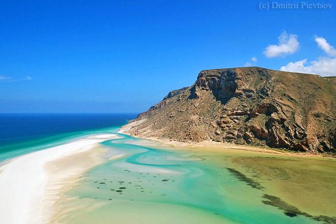 Побережье, море, гора, океан, синий, зелёный, лагуна